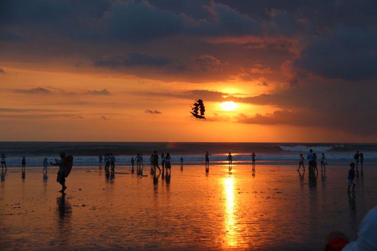 Sunset on the beach at Seminyak Bali