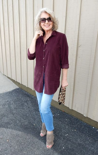Fifty, not Frumpy: Port Corduroy Tunic