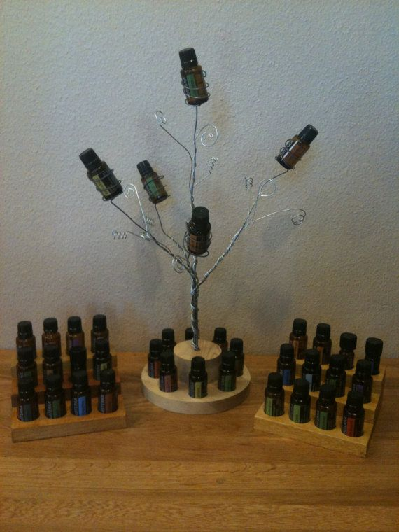 ESSENTIAL OIL Holder Set, Tree of Life oil holder set, Wire & Wood oil…