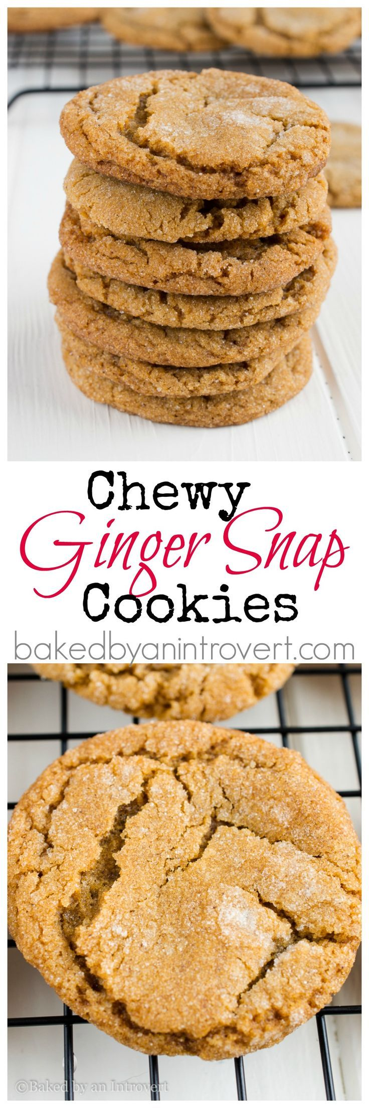 Chew Ginger Snap Cookies - Soft and chewy gingersnap cookies infused with molasses, cinnamon, and cloves.