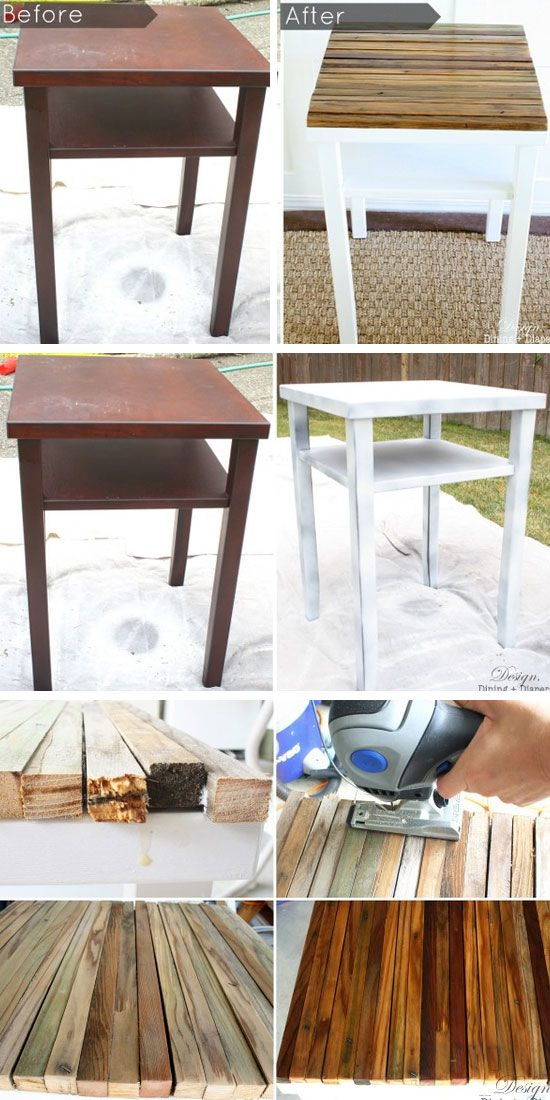 DIY Side Table Makeover With Naturally Distressed Wood | 27 DIY Rustic Decor Ideas for the Home | DIY Rustic Home Decorating on a Budget