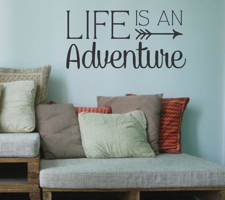 Life is an Adventure-Vinyl Wall Decal- Wall Quotes- Family Quotes-Arrow Design- by landbgraphics on Etsy