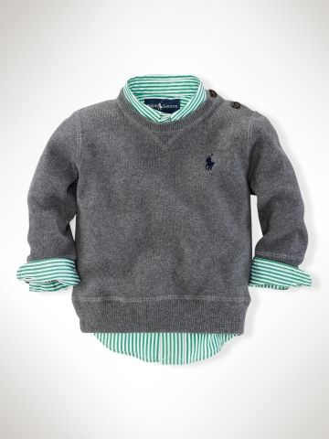 Crewneck Sweater - Sweaters   Infant Boy (9M-24M) - RalphLauren.com