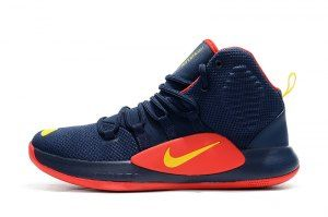 2cc9c3d2d0ad4 Mens Nike Hypedunk X 2018 Navy Blue Red Yellow Basketball Shoes ...