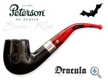 When the Dracula 069 pipe by Peterson was released in 2011 they sold out in the United Kingdom within hours. You really can see why. Sitting beautifully between the flawless black ebony bowl and the striking red and black marbled fishtail mouthpiece, there is a perfectly proportioned nickel band with the Dracula name etched on to it. Peterson has entered the dark side but the Dracula pipe is a handsome, well-balanced piece of art.
