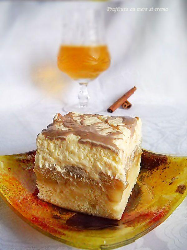 """Cu aceasta reteta participam la :Provocarea lunii noiembrie """"Dulce Romanie"""" Ingrediente Blat : 8 oua, 8 linguri de zahar, 8 linguri faina, 1 praf de copt, 1,5 kg mere, Alte ingrediente: 150 ml vin alb dulce, 150 gr zahar, 1 baton scortisoara, ciocolata, Ingrediente Crema : 700 ml lapte, 3 plicuri budinca de vanilie, 10"""