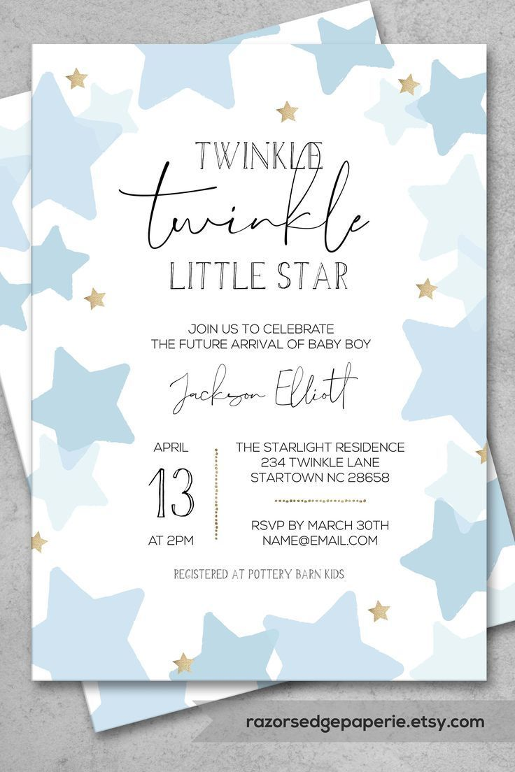 Excited To Share The Latest Addition To My Etsy Shop Printabl Star Baby Shower Invitations Baby Shower Invitations For Boys Printable Baby Shower Invitations