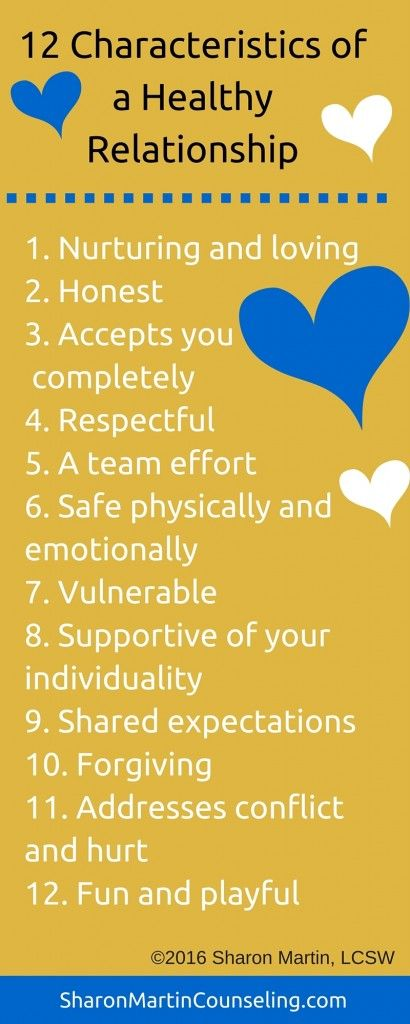 12 Characteristics of a healthy relationship