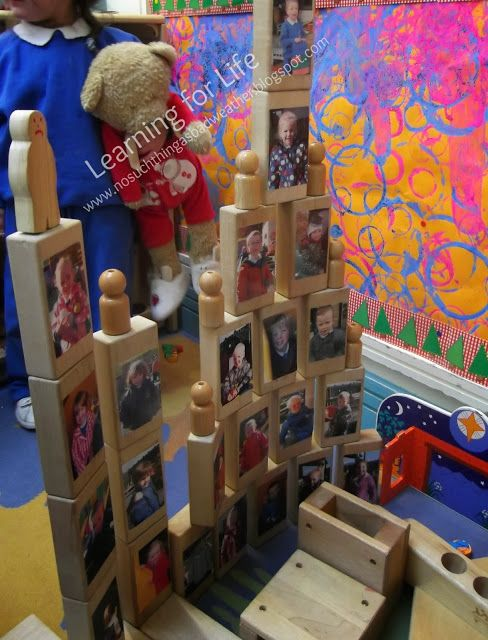 Having children's pictures on the blocks will be fun. Children can utilize the blocks for not just construction play, but also any activities that require figures of people or classmates.
