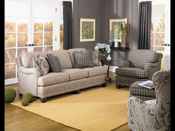 Smith Brothers Furniture Sofa And Paisley Pillows I Am Not Into The Plaid Fabric I Have Seen