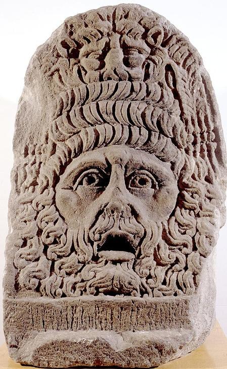 Màscara tràgica, Cultura romana (segle I - II dC) Barcelona (Barcelonès)