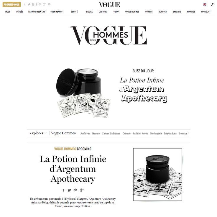 la potion infinie ~ 'in VOGUE' @vogueparis #voguehommes http://ht.ly/INLPk