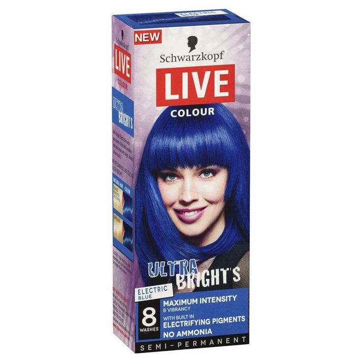 Buy Schwarzkopf Live Colour Ultra Brights Electric Blue Online at Chemist Warehouse®