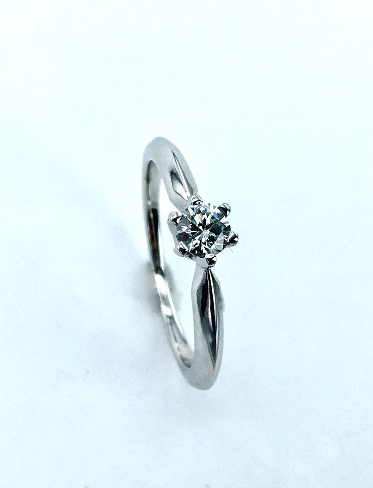 White Gold Ring with Diamond 0,23ct SI/D