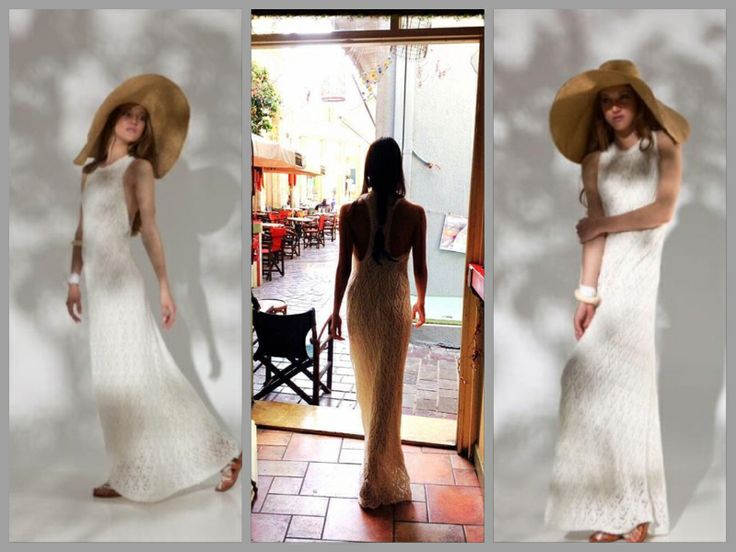 Knitted backless maxi dress