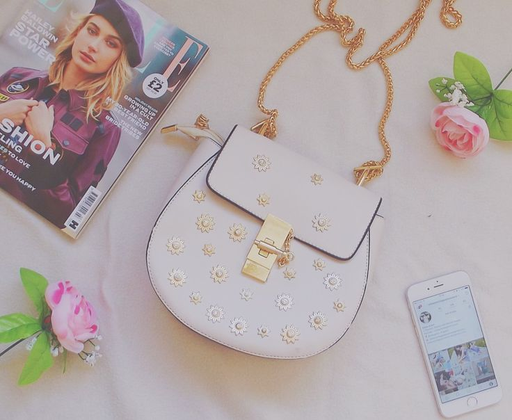 This Chloe bag (hey that's my name!) dupe is absolutely gorgeous from the gold chain handle to the flower detail - it's perfect!