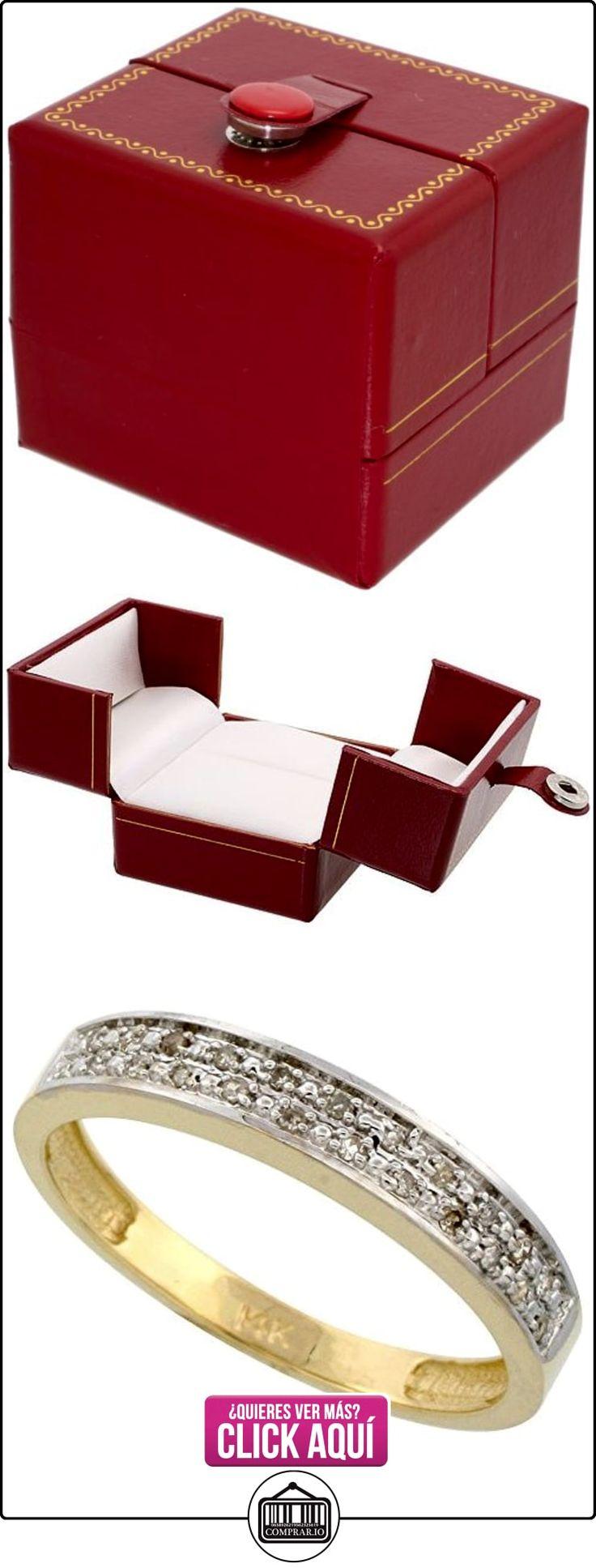 Revoni - Juego de alianzas de oro amarillo con diamante  ✿ Joyas para hombres especiales - lujo ✿ ▬► Ver oferta: http://comprar.io/goto/B005M382KU