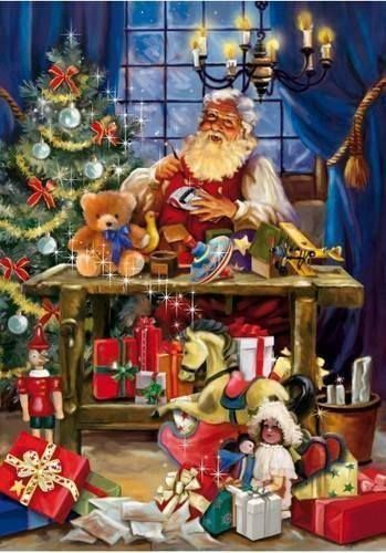 Santa is knee deep in Christmas toys to be made !