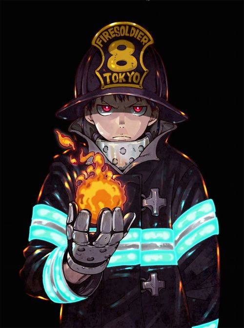 Scan Fire brigade of flames VF