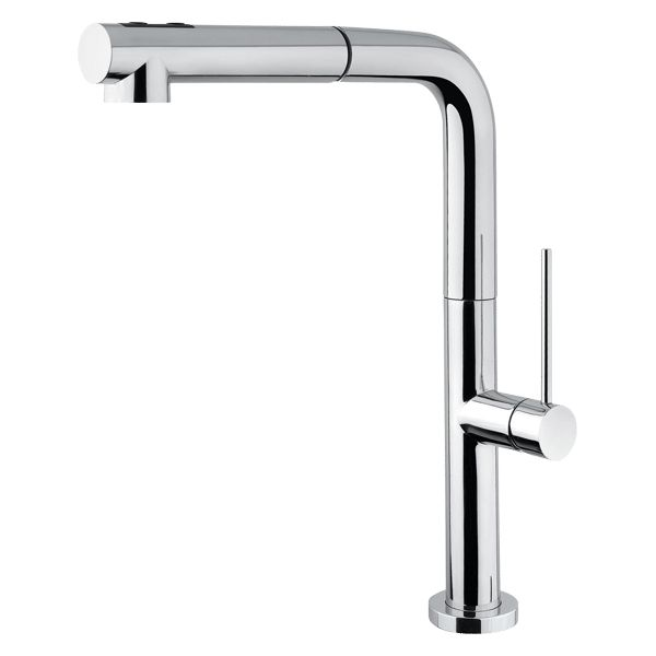 Italian Designed & Manufactured Elegant Slim Square Side Lever Includes Pull-Out Spray WELS Rating: 5 Star Flow Rate 5L/min