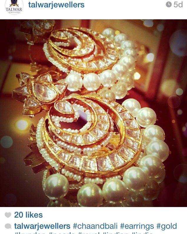 Polki earrings with pearl drops by Talwar Jewellers