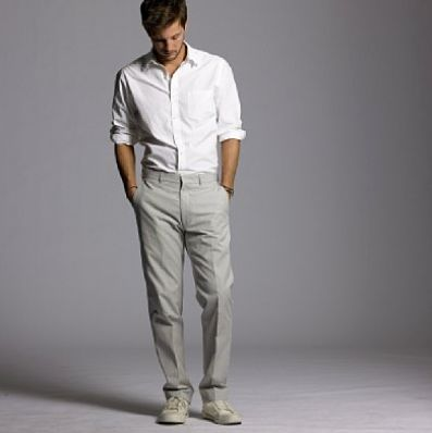 Beach wedding outfit for men.  Found on Weddingbee.com Share your inspiration today!