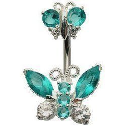 Double Butterfly Navel Belly button rings ($15.99)
