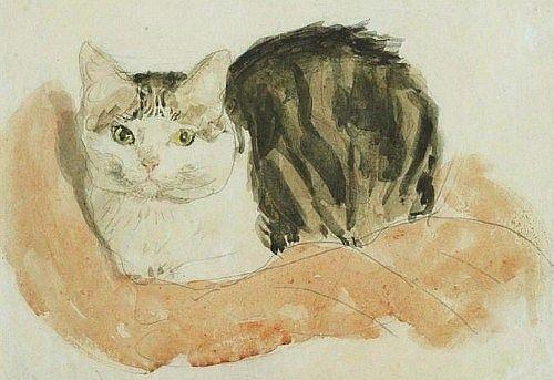 Wide Awake Tortoiseshell Cat: Gwen John