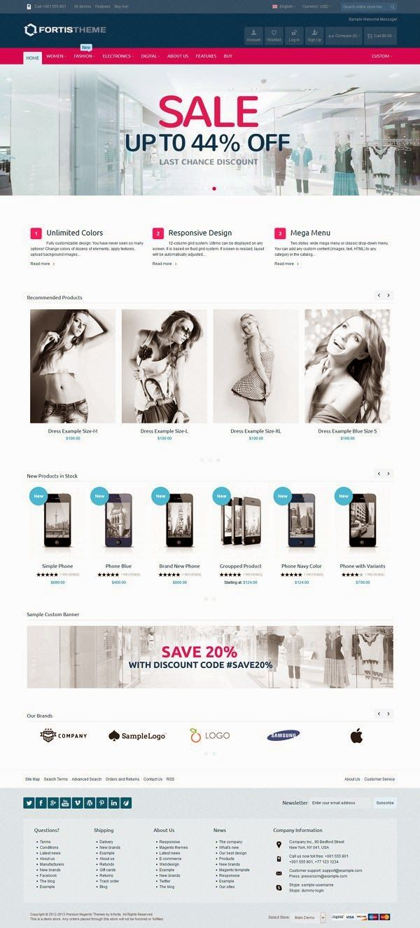 Fortis 2 is fully responsive #Magentotheme with dozens of features and hundreds of customization possibilities, suitable for every type of #products. It was designed with focus on user experience and usability, to make #shopping quick, easy and fun.