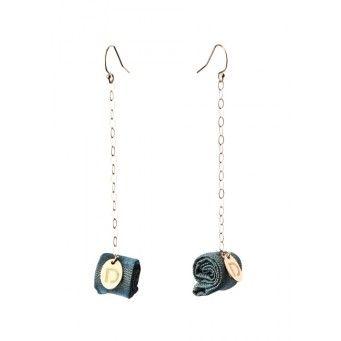 Doridea mini textiltekercses fülbevaló - Shopping
