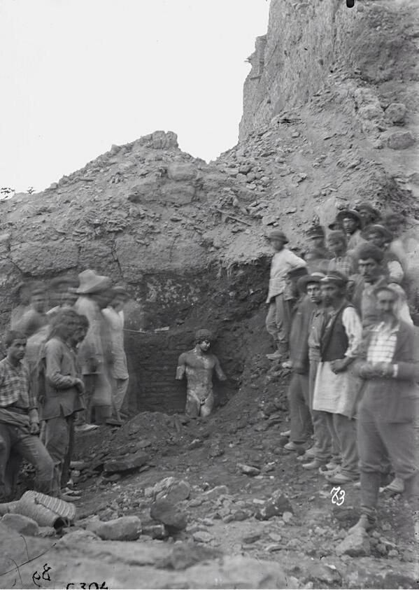 Discovery of Antinous at Delphi 1984 - Statue of Antinous (Delphi) - Wikipedia