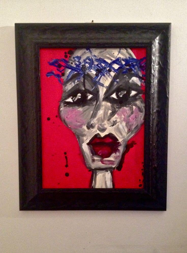 "baby marcelo artwork "" la passione ""  acrylic on canvas"
