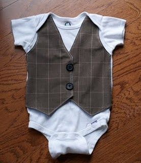 Little boy vest onesie tutorial.Sewing, Baby Shower Gift, Cute Ideas, Baby Boys, Onesies Vest, Faux Vest, Kids, Vest Onesies, Little Boys