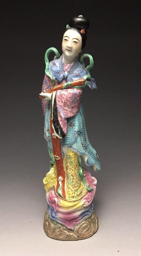 Republic Period Chinese He Xian'gu Porcelain Figure  | eBay