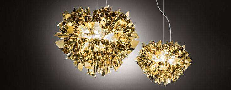 Veli Suspension Gold Silver and Copper Lamp | Slamp
