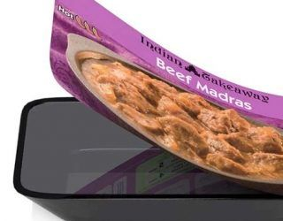Peelable ready meal lid has been launched that does away with the need for cardboard sleeves. #packaging