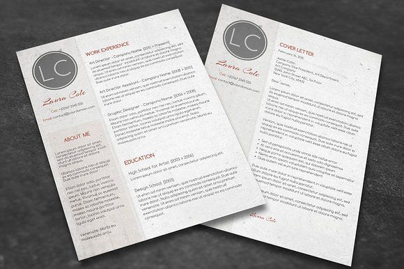 Conservative CV + Cover Letter by Visual Impact on @creativemarket