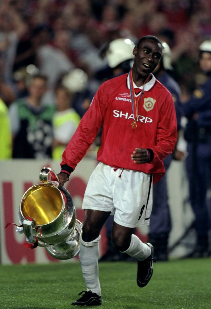 Andy Cole with the trophy