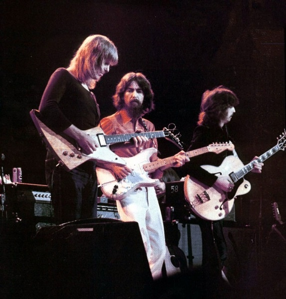George with Pete Ham and Eric Clapton CFB