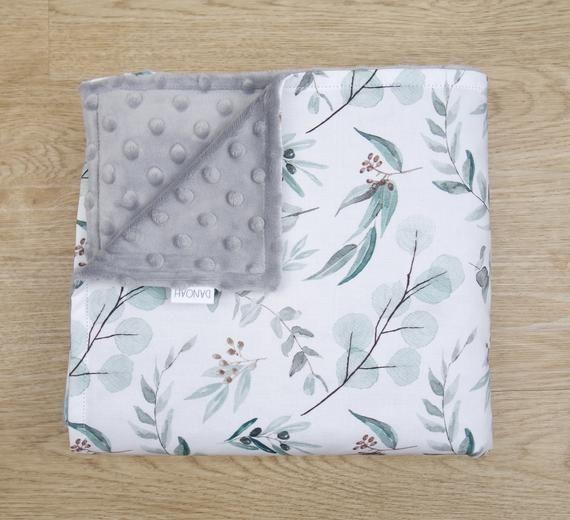 Pram Blanket Cotton /& Minky Blanket newborn animals stroller blanket minky baby blanket Baby Blanket baby shower Car Blanket baby