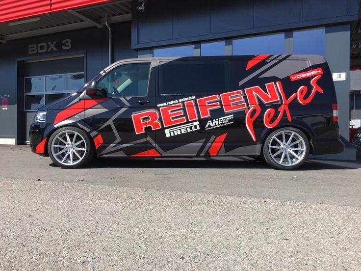 VW T5 FL wrap branding project for Reifen Peter
