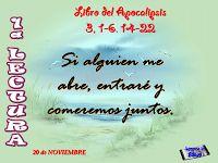LECTURAS DEL DIA: Lecturas y Liturgia del 18 de Noviembre de 2014 Apocalipsis (3,1-6.14-22) Salmo 14,2-3ab.3cd-4ab.5 Lucas (19,1-10)