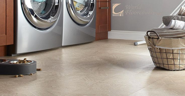 This stained cork flooring is perfect for prone-to-spill areas like your laundry room! It protects effectively against moisture AND it's completely biodegradable, renewable and sustainable!! [Featured: Corkcomfort WRT x Wicanders]