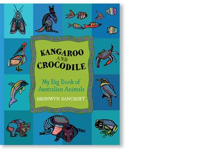 'Kangaroo and Crocodile' by Bronwyn Bancroft, published by Little Hare Books, 2011.   Signed picture book available at Books Illustrated.   http://www.booksillustrated.com.au/bi_books_indiv.php?id=38