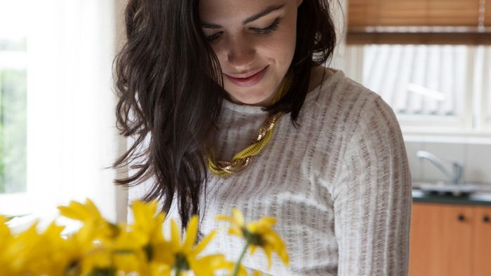 The yellow and gold twist necklace.