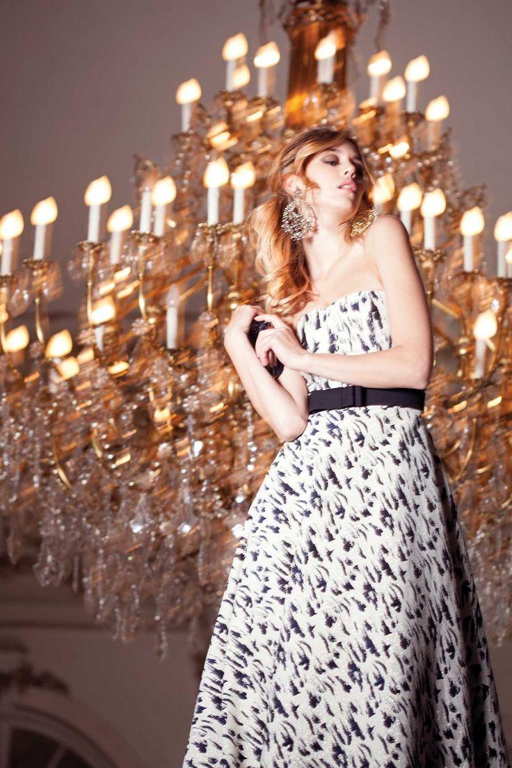 (c) www.nissa.com  #nissa #b/w #black #white #dress #style #fashion #fashionista #model #beautiful #eveningdress #glam