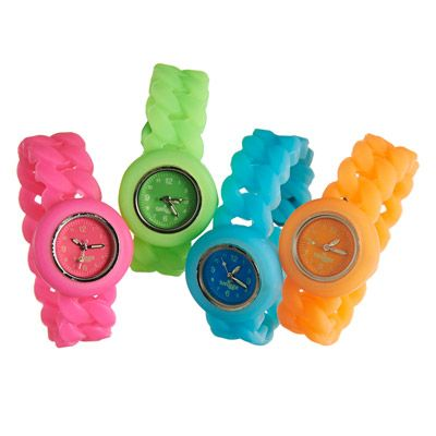 glow silicone watch