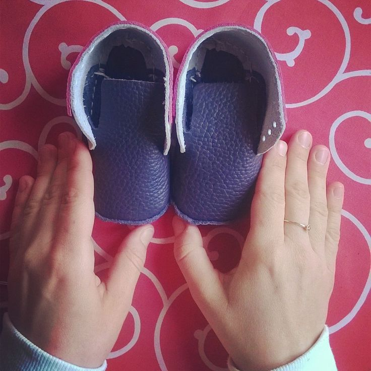 Baby shoes made with your very own hands.