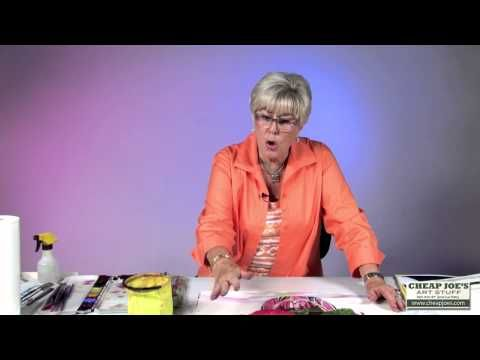 How to Create a Dark Background With Watercolor Artist Anne Abgott - YouTube