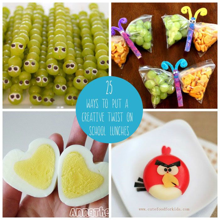 Have some fun with school lunches by putting a fun twist on them to make your kids smile...